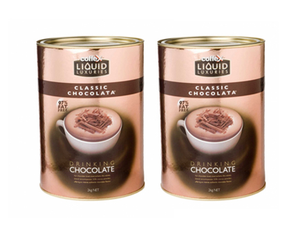 coffee shop supplier drinking chocolate